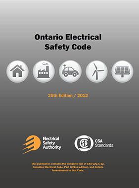 Ontario Electrical Safety Code - 2012 edition v1.0