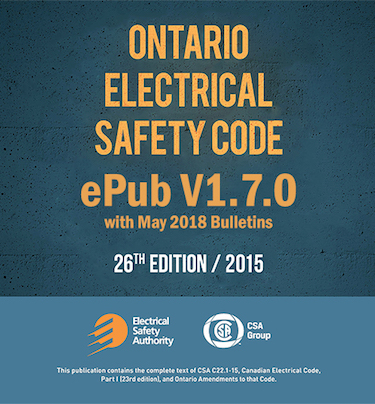 Ontario Electrical Safety Code v1.7.0 with May Bulletins